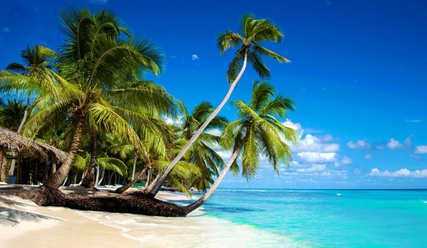 Tropical-Beach-Caribbean-Sea-Saona-Island-Dominica-Republic-Punta-Cana-Travel